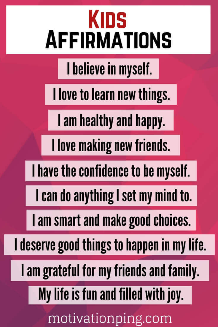 For self daily affirmations esteem positive 61 Affirmations